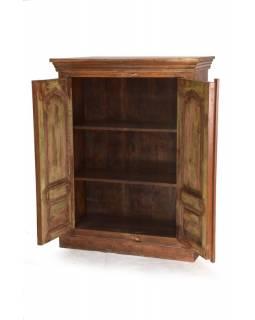 Skříň z antik teakového dřeva, 96x41x125cm