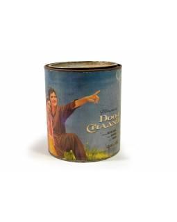 """Antik plechová krabička """"Bollywood"""", 15x15x17cm"""