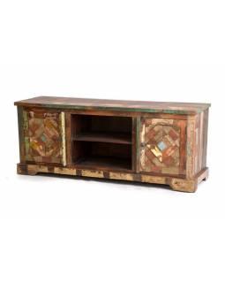 """Komoda pod TV z antik teakového dřeva, """"GOA"""" , 150x43x60cm"""
